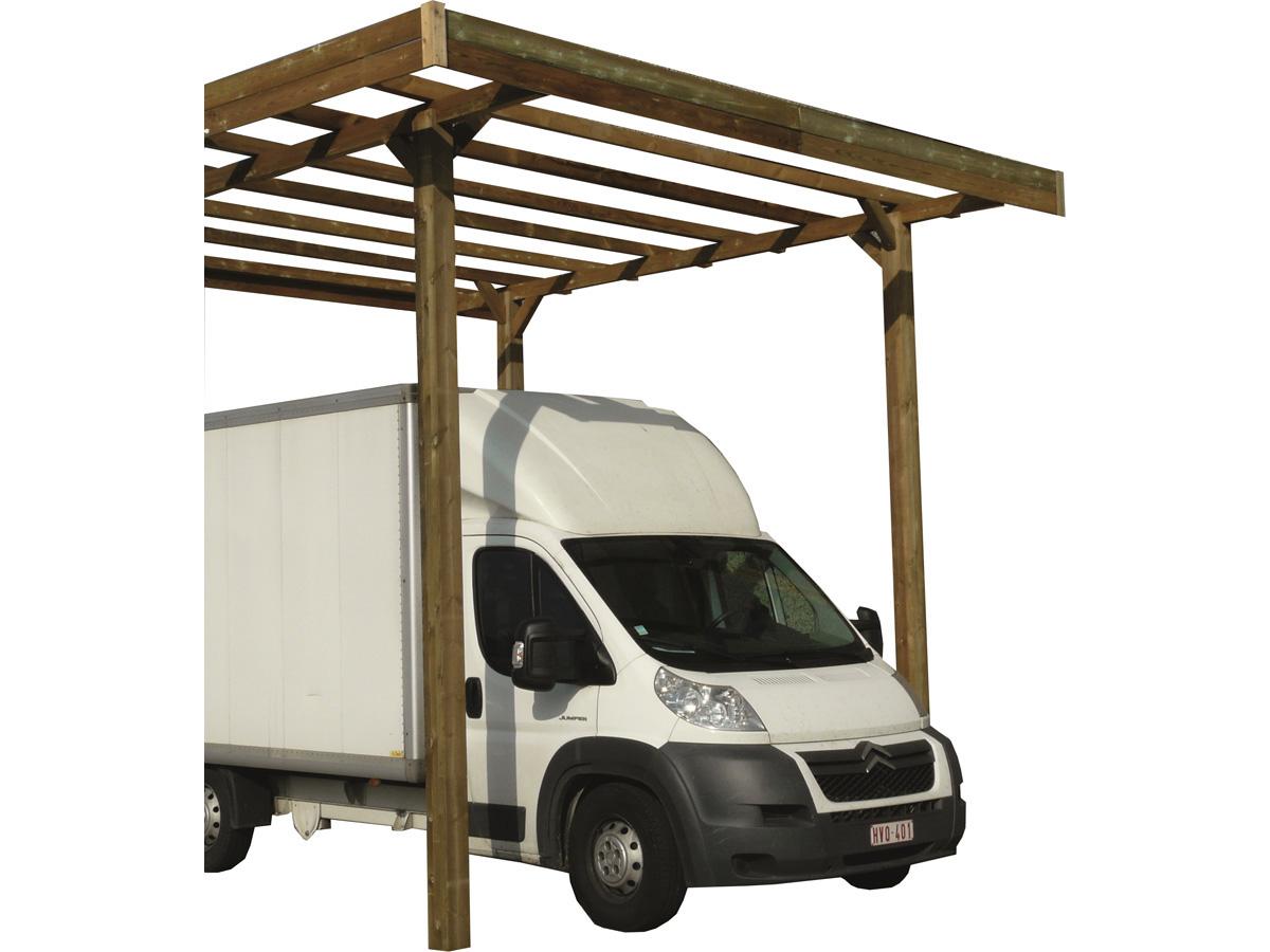 carport base 3 x 5 hauteur 4 m trait autoclave 82005. Black Bedroom Furniture Sets. Home Design Ideas