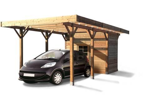 Carport voiture bois - 13.48 m² - 3.06 x 7.06 m