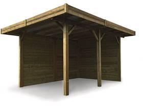 Carport voiture bois - 11.64 m² - 4064 x 5064 mm