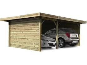 Carport voiture bois - 16.93 m² - 5064 x 7064 x 2718 mm