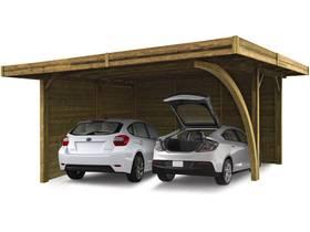 Carport voiture bois - 19.35 m² - 5064 x 6064 mm