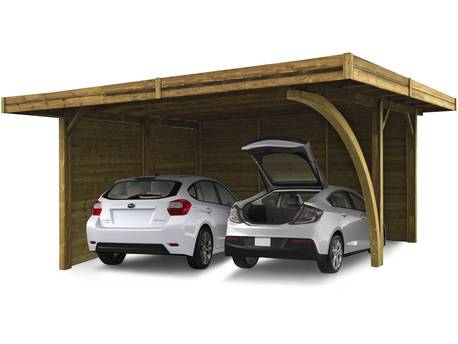 Carport voiture bois - 19.35 m² - 5.06 x 6.06 m