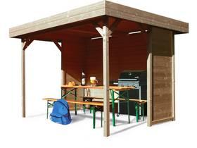 "Kiosque en bois ""Regensburg"" - 6 m² - 3440 x 2588 x 2231 mm - 19 mm"