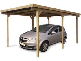 Carport voiture bois - 15.20 m² - 4200 x 2750 x 2250 mm
