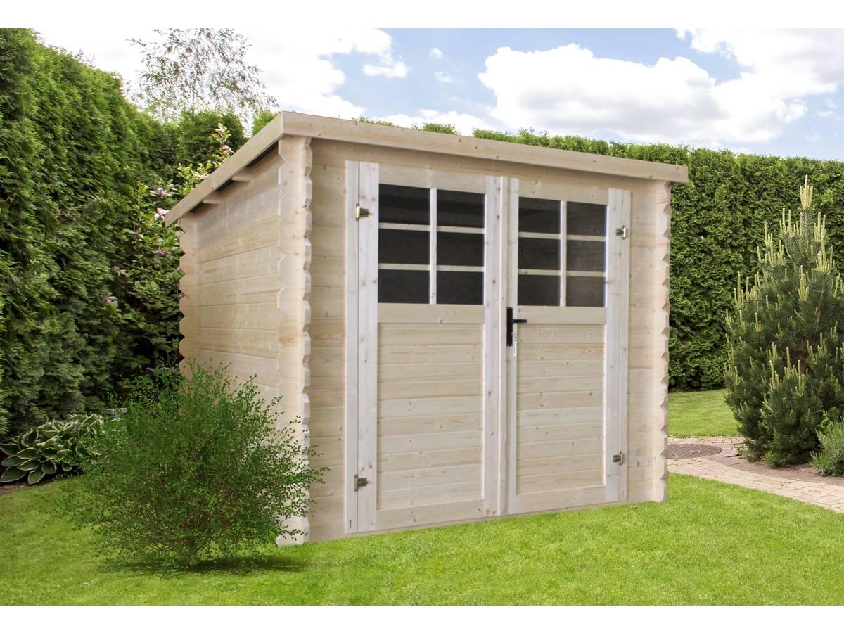 Abri De Jardin Composite abri de jardin bois - 5.66 m² - 2,38 x 2,38 m - 28mm 96337