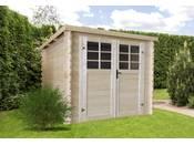 Abri jardin bois -7.53 m² - 2.98 x 2.98 x 1.92 m - 28mm