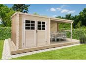 Abri jardin bois -4.60 m² - 5.15 x 2.38 x 2.06 m - 28mm