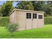 Abri jardin bois - 9.92 m² - 3.88 x 2.98 x 1.91 m - 34mm