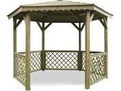 """Kiosque en bois """"Pavilion"""" - 6.68 m² - 3.15 x 2.57 x 2.56 m - 16 mm"""