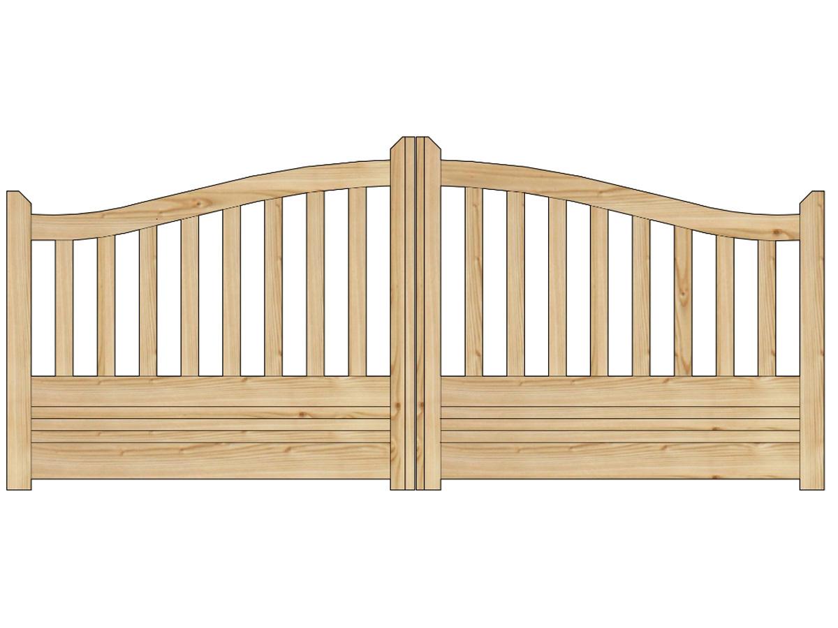 Portail jardin bois gand 4 x x m 81003 - Fabriquer un portail de jardin en bois ...
