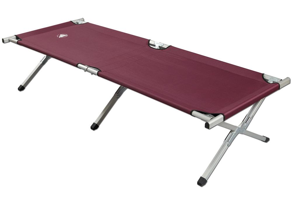 lit de camp aluminium et toile nylon prune 33299. Black Bedroom Furniture Sets. Home Design Ideas
