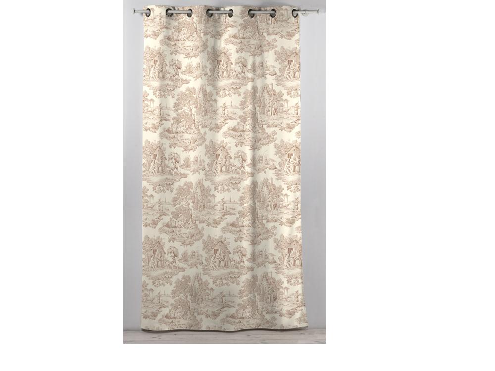 rideau en coton beige 30585. Black Bedroom Furniture Sets. Home Design Ideas