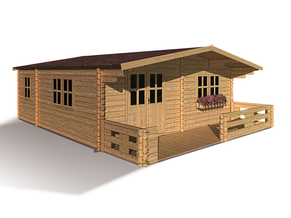 chalet jardin bois lipki m x x m 43 mm 55178. Black Bedroom Furniture Sets. Home Design Ideas