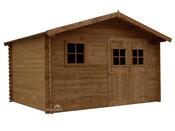 "Abri jardin en bois traité ""Aloha"" - 11.32 m² - 2.45 x 3.80 x 3.00 m - 28 mm"