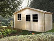 """Abri jardin emboité bois """"Mirny"""" - 11.87 m² - 3.98 x 2.98 m - 34 mm"""