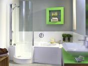 Baignoire combinée à une douche avec porte 1 place 160cm