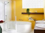 Baignoire combinée à une douche avec porte 1 place 180cm