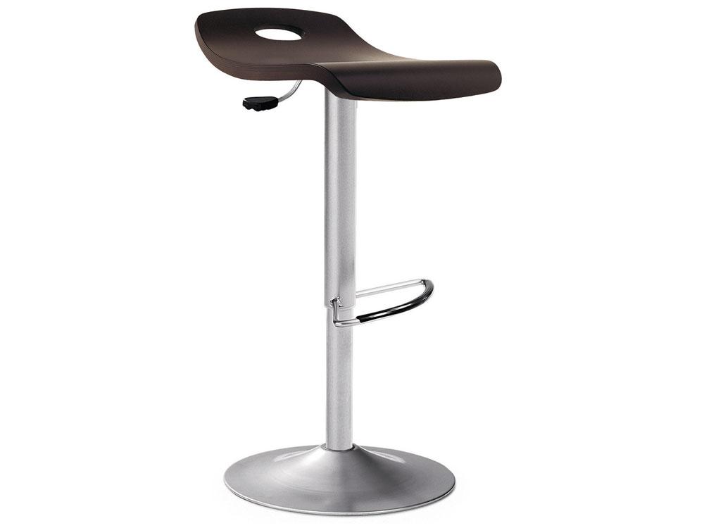 tabouret de bar merisier alu chrom 31740 31750. Black Bedroom Furniture Sets. Home Design Ideas
