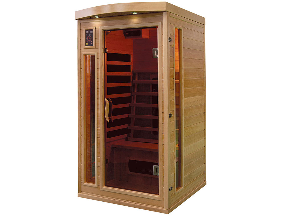 cabine de sauna infrarouge apollon 1 place 37991. Black Bedroom Furniture Sets. Home Design Ideas