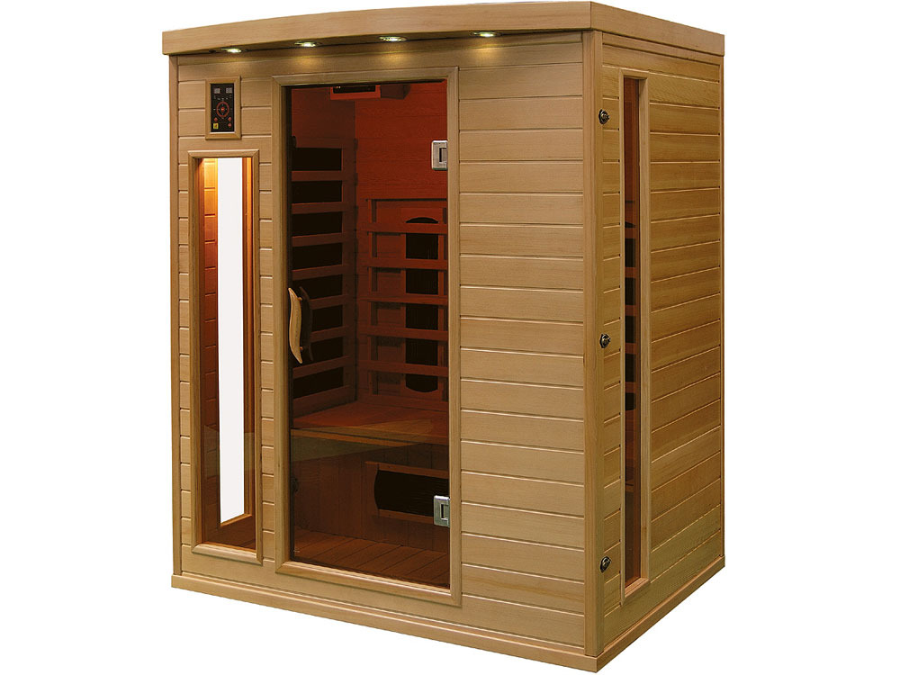 cabine de sauna infrarouge apollon 3 places 37991 37995. Black Bedroom Furniture Sets. Home Design Ideas