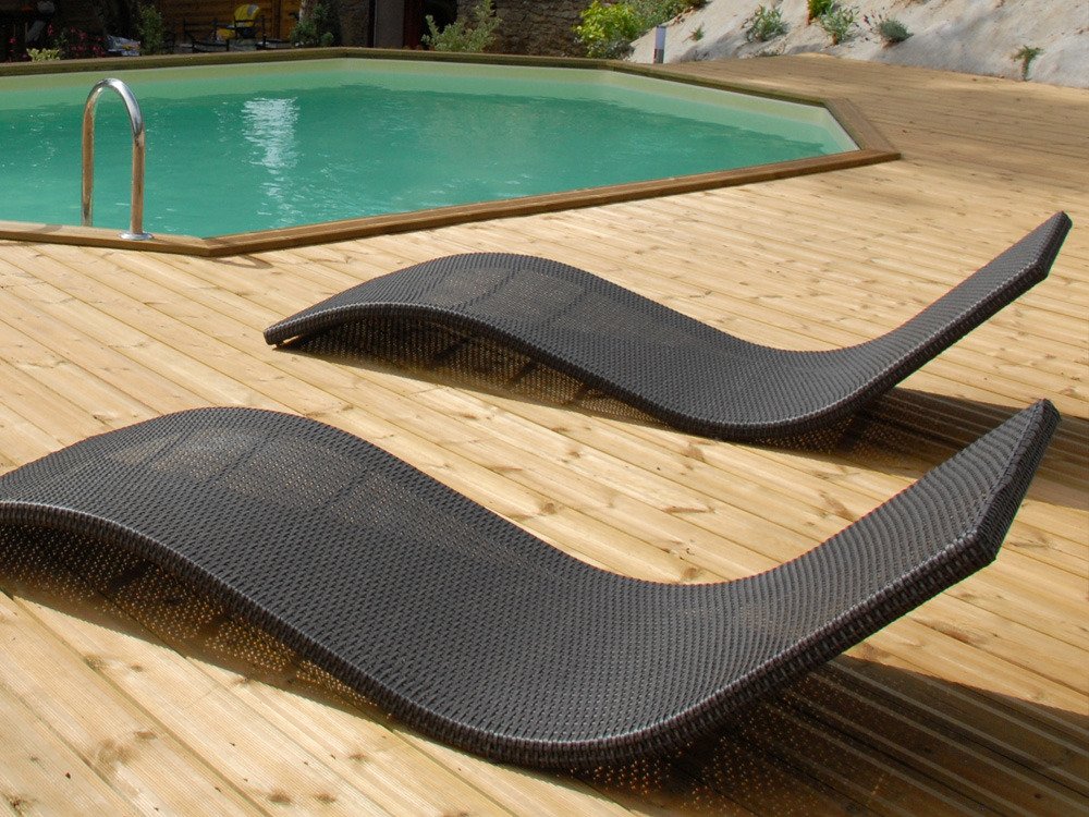 bain de soleil antalya rotin marron fonc lot de 2 51135. Black Bedroom Furniture Sets. Home Design Ideas