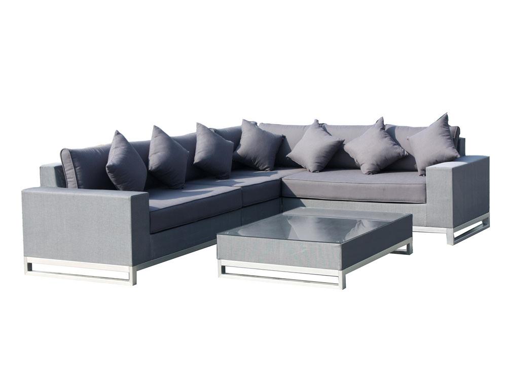 lounge set manhattan 1 l ment simple 1 fauteuil d 39 angle 2 m ridienne 1 table basse 51095. Black Bedroom Furniture Sets. Home Design Ideas