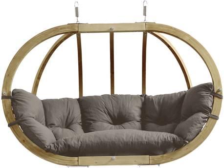 "Nacelle jardin Amazonas ""Globo Royal Chair"" - 176 x 118 x 72 cm - Taupe"