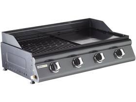 "Barbecue gaz mixte ""Las Palmas"" - 4 brûleurs - 3.5 kW - 86 x 51 x 30.3 cm - Inox"