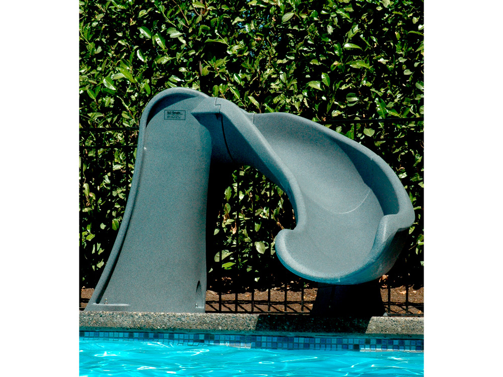 Jeux piscine toboggan cyclone gris granite 33737 33738 for Piscine hors sol 1m de profondeur