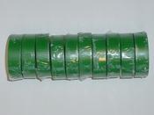 Ruban adhésif PVC couleur vert - 20 m - 10 rubans