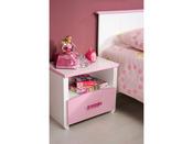 """Chevet """"Beauty"""" - Blanc et rose - 48 x 42 x 33 cm"""