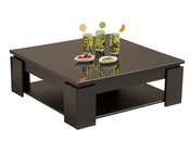 "Table basse ""Kala"" - 89 x 31 x 89cm - Noir laqué"