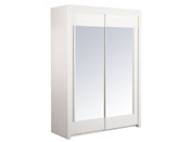 """Armoire 2 portes """"Soft"""" - 156 x 61 x 217 cm - Coloris blanc"""