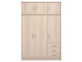 armoire 3 portes soft 130 x 55 x 195 cm 82072. Black Bedroom Furniture Sets. Home Design Ideas