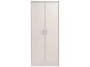 """Armoire 2 portes """"Soft"""" - 75 x 34 x 181 cm - Coloris blanc"""