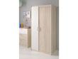 "Armoire 2 portes ""Nougat"" - 85 x 52 x 180 cm - Coloris acacia/blanc"
