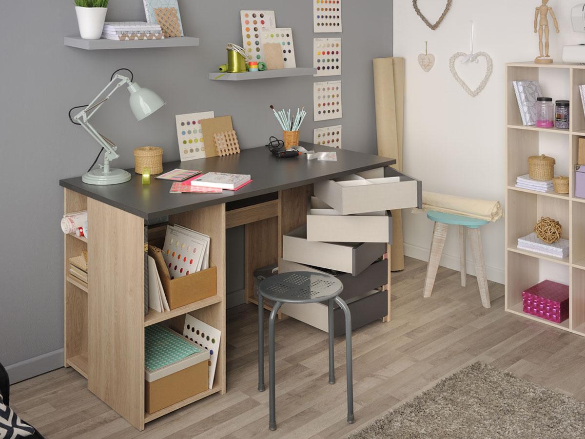 Bureau gris et blanc bureau gris et blanc bureau gris et blanc