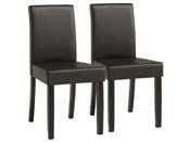 """Lot de 2 chaises """"Peter""""- Marron"""