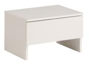 "Chevet ""Bianca"" blanc - 44 x 33 x 28 cm"