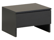 """Chevet """"Blick"""" - 44.5 x 33.5 x 29 cm - Noir - Lot de 2"""
