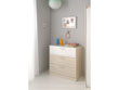 "Commode ""Nougat"" - 78 x 40 x 82 cm - Coloris acacia/blanc"
