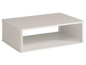 "Table basse ""Ciri"" - 99,8 x P. 67,7 x H. 34,8 cm - Blanc laqué"