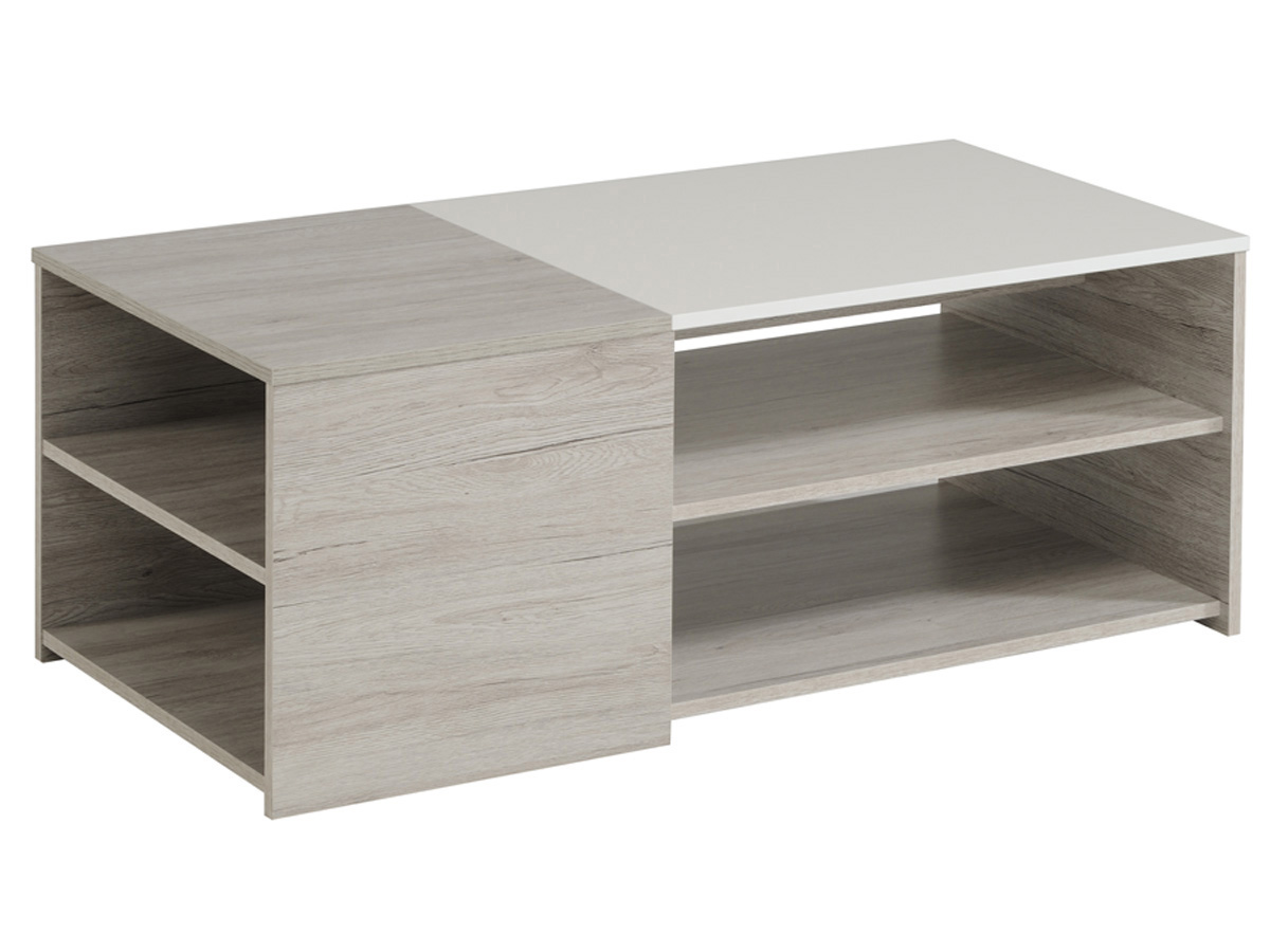 Table Basse Lune 107 X 54 X 41 Cm Gris Blanc 80266 # Ensemble Meuble Tv Table Basse Buffet
