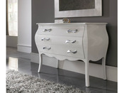 "Commode ""Jane"" - 116 x 53 x 85 cm - 3 tiroirs - Coloris blanc"
