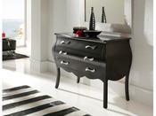 """Commode """"Jane"""" - 116 x 53 x 85 cm - 3 tiroirs - Coloris noir"""