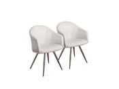 """Lot de 2 chaises """"Moby"""" - Blanc"""