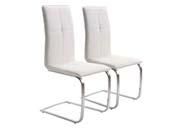 """Lot de 2 chaises """"Bell"""" - Blanc"""