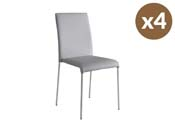 """Lot de 4 chaises """"Claudia"""" - Argent"""