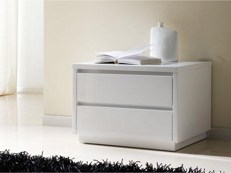 """Lot de 2 chevets """"Adélie"""" - 50 x 39 x 40 cm - Coloris blanc"""