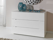 "Commode ""Catherine"" - 120 x 50 x 75 cm - 3 tiroirs - Coloris blanc"